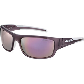 Alpina Testido Gafas, nightshade matt-white/rose-gold mirror
